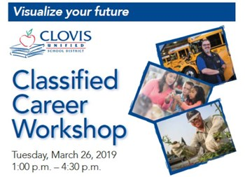 Classified Career Workshop flyer