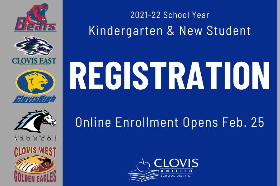 New student registration opens online Feb. 25