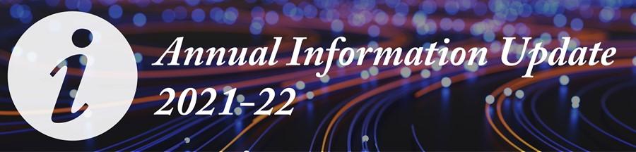 Annual Information Update 2021-22