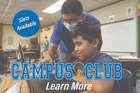Slots Available for Campus Club - With student and teacher