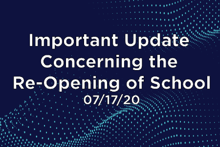 Important Update Concerning the Reopening of School