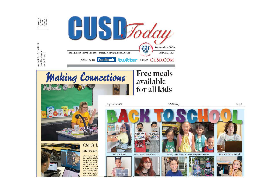 Pages of CUSD Today newspaper