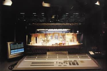 Sound booth in theatre