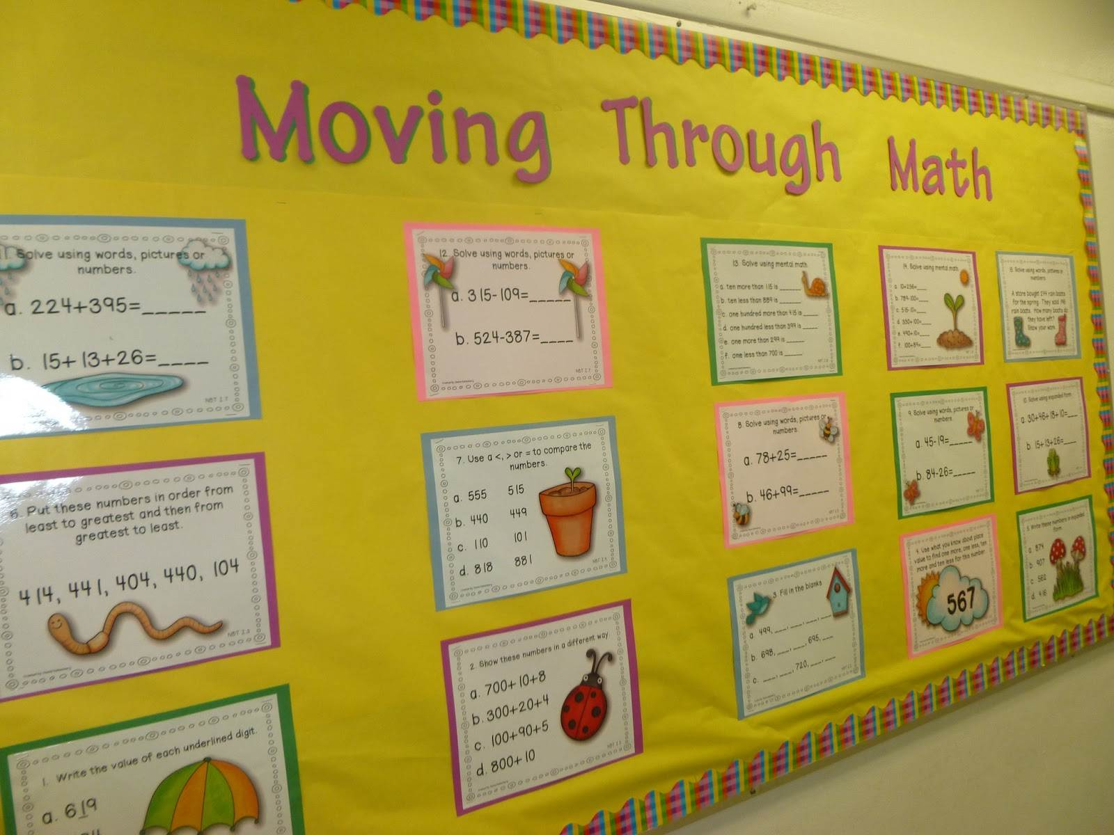 Moving through Math Bump it up Wall