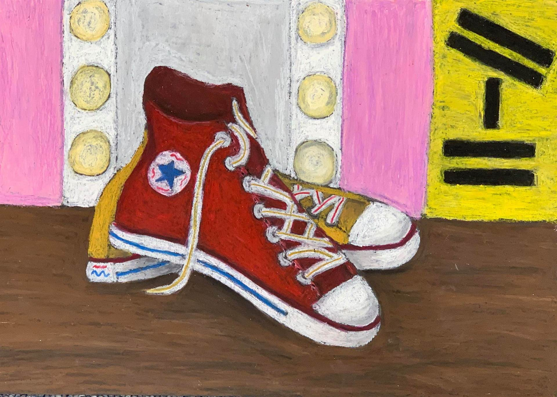 Red Converse Shoes painting
