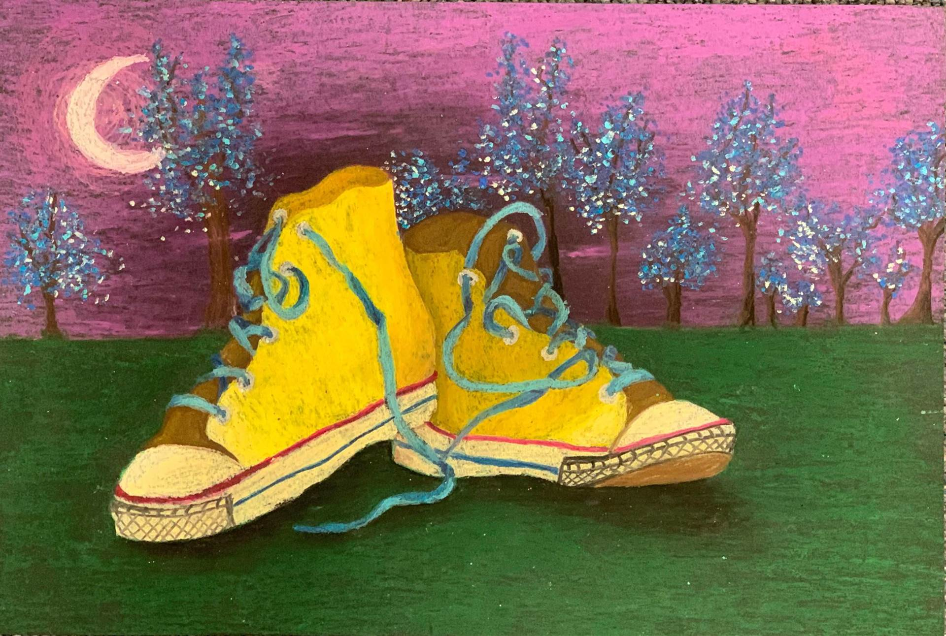Painting of Converse Shoes