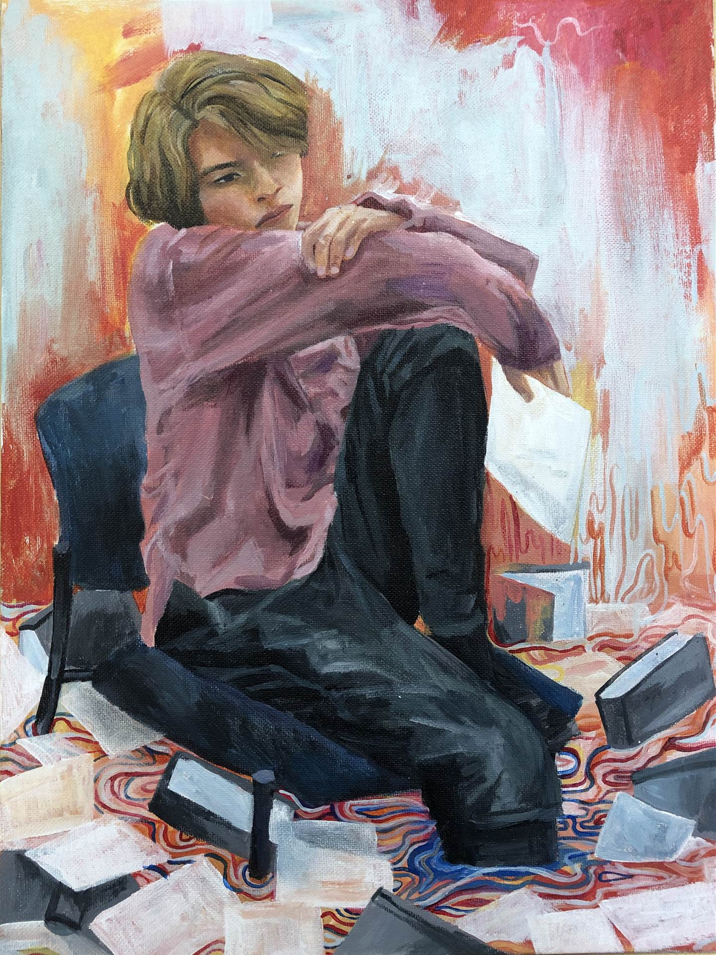 Painting of Girl in Chair