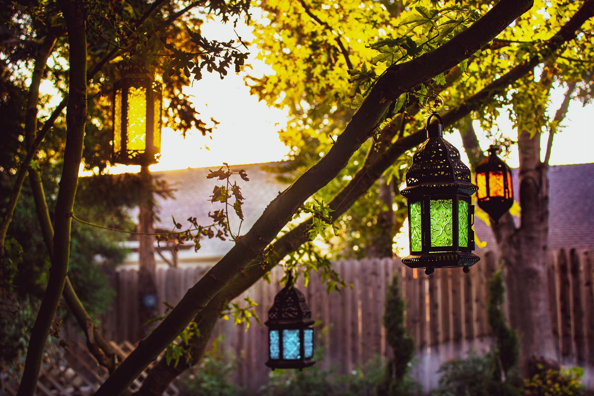 Photo of colored lanterns