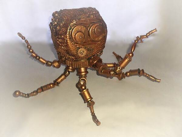 Steampunk Octopus Sculpture