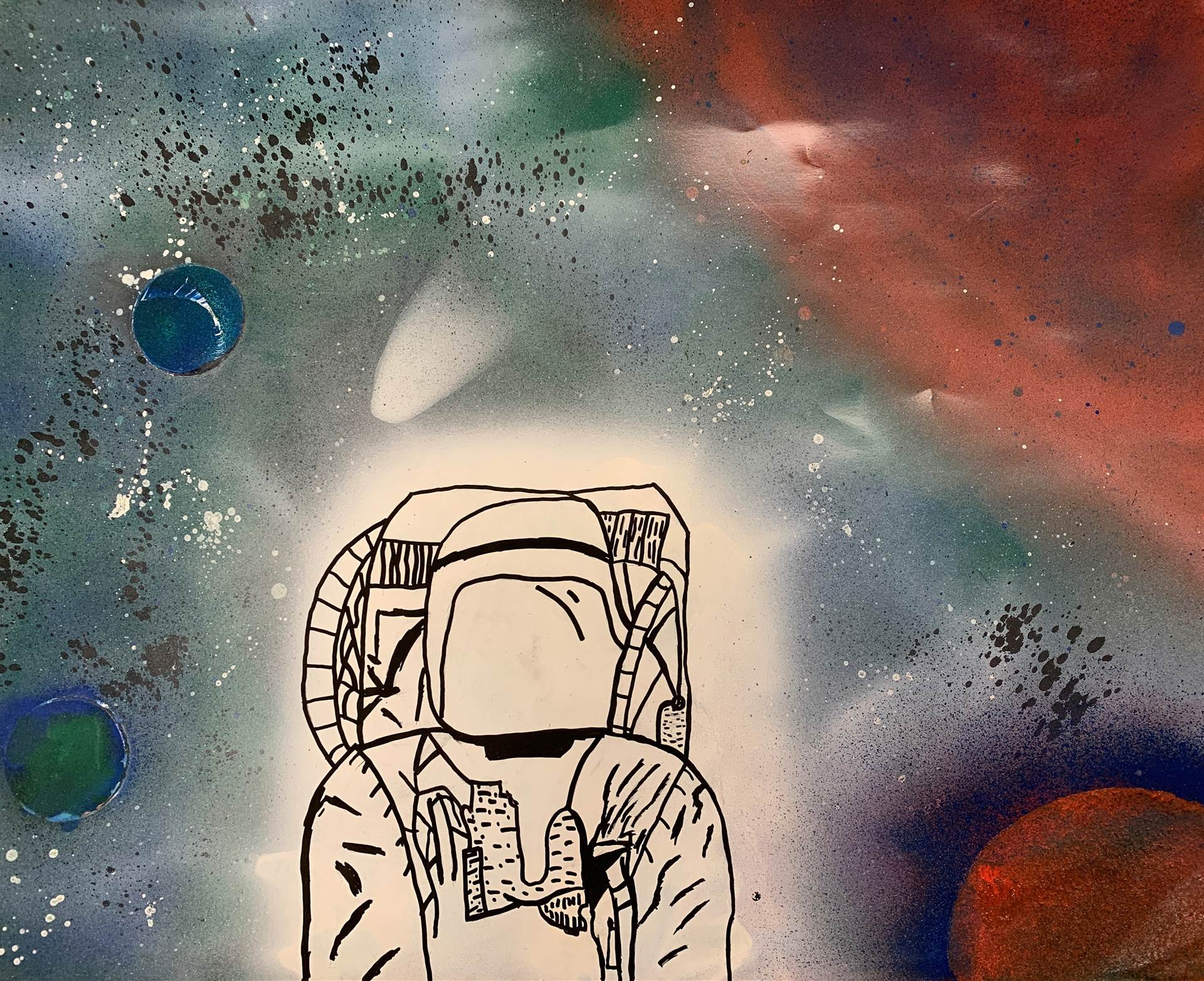 Painting of Spaceman