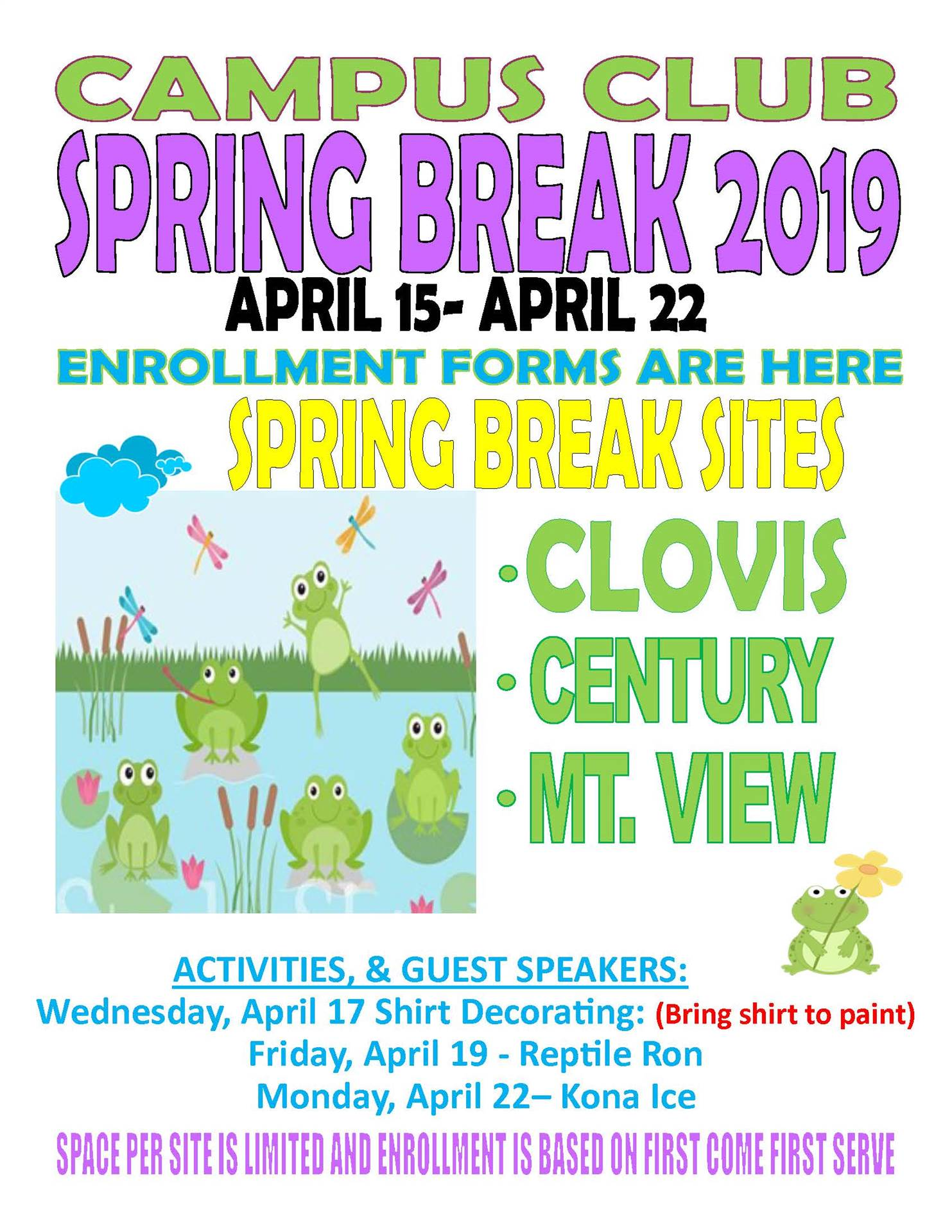 Spring Break Apps Flyer