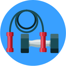 Graphic of Exercise Equipment