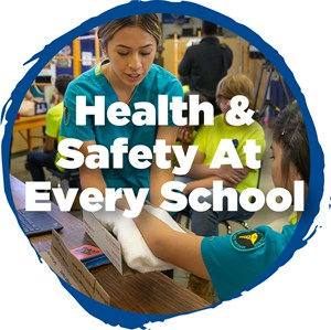 Health and Safety Upgrades - Medical Career student teaches construction student about safety