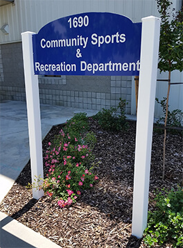Community Sports and Recreation Sign
